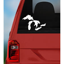 Vinyl Decal Michigan The Great Lakes Sticker For Cars Mugs Windows Laptops Etc Pick Size And Color