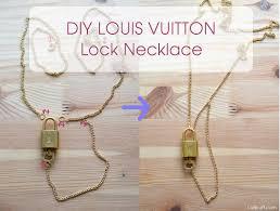 easy diy louis vuitton lock necklace