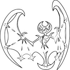 Pokemon Lunala Coloring Pages