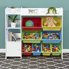 Amazon Com Sturdis Kids Toy Storage Organizer With Kids Toy Shelf And Multi Toy Bins Perfect Toy Storage Solution Your Kids Will Have Fun And You Will Be Free From Messes