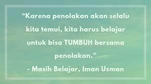 quotes bijak dari buku masih belajar karya iman usman