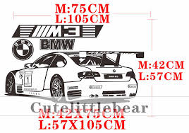 Bmw M3 Car Wall Stickers Wall Decals For Boy Bedroom Home Decor Living Room Decoration Vinyl Roadster Wall Decor Sticker Mural Wall Stickers Aliexpress