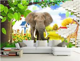 Wall Stickers Custom Photo Mural 3d Kids Room Beautiful Landscape Elephant Wood Background Wall Painting Home Decor Wall Art 3d Stickers Colorful Wallpaper Colour Wallpapers From Wdbh 12 71 Dhgate Com
