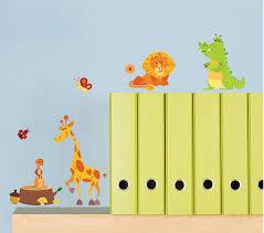Nursery Kids Room Wall Decal Jungle Animals Kneebees