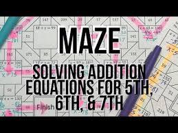 maze classroom activity solve
