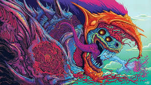 psychedelic abstract creature trippy