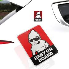 Flyj 3d Metal Baby On Board Car Sticker Creative Fashion Tail Warning Sign Car Accessories Car Styling Car Stickers Aliexpress