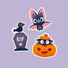 Vinyl Sticker Jiji Pumpkin Oddie The Bat Raven Tombstone Etsy