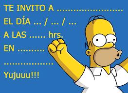 Invitacion Para Cumpleanos Homero Simpsom Los Simpson Homero Simpson Los Simpsons