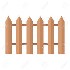 Old Wooden Fence In Village In Garden Flat Vector Cartoon Illustration Royalty Free Cliparts Vectors And Stock Illustration Image 83087712