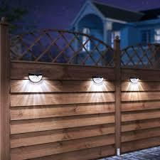Othway Solar Fence Post Lights Wall Mount Decorative Deck Lighting Black 4 Pac Ebay