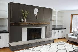 brick fireplace makeover bright green