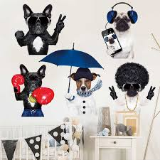 Cute Dog Wall Stickers Removable Kids Decal Nursery Decor Art Mural Diy Gift Ebay