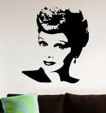 Lucille Ball I Love Lucy Insp Silhouette Decal Wall Art 91063540