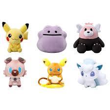 These are Pokedolls of Alola Raichu , Alola Vulpix, Pikachu ...