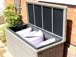outdoor rattan small garden storage box