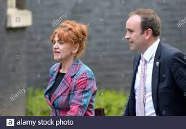 Sarah Atherton MP (Con: Wrexham) and Aaron Bell MP (Con:  Newcastle-under-Lyme) in Downing Street, 13th March 2020 Stock Photo - Alamy