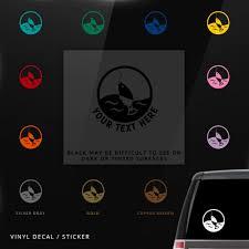 Fish Fishing Symbol Car Window Decal Vinyl Sticker Custom Gifts Etc