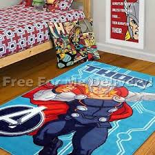 Marvel Avengers Mighty Thor Kids Room Gift Set Poster Cushion Rug Free Delivery Ebay