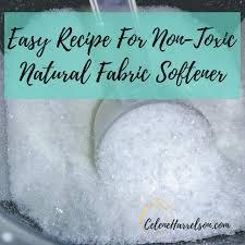 diy natural toxin free fabric softener