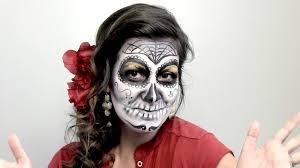 de los muertos face painting