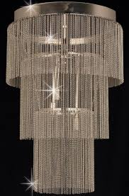 impex chain art 40cm 6 light pendant