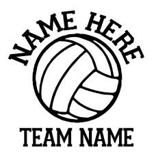 Vinyl By Amy Volleyball Car Decals Personalized Sport Decals