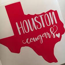 University Of Houston Cougars Sticker Vinyl Decal Uh University Of Houston Houston Shirt Houston Cougars