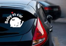 Car Decal Sticker Baby In Car Car Decals Baby On Board