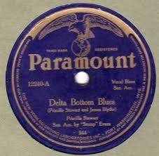 popsike.com - Paramount 12240 Priscilla Stewart DELTA BOTTOM BLUES VG+/E-  JAMES BLYTHE - auction details