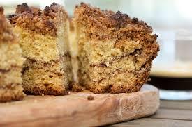 coffee cake with chocolate cinnamon swirl