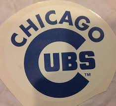 Chicago Cubs 7 X 6 5 Fathead Official Mlb Team Logo Wall Graphics Vinyl Decal Ebay