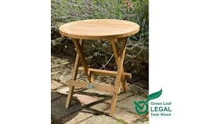 folding round teak garden coffee table