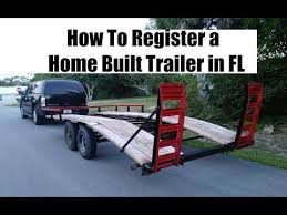 how to register a home built trailer in