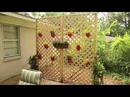 Diy Lattice Privacy Wall Youtube