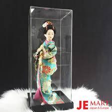 Búp bê Geisha Áo xanh cầm quạt Nhật Bản - J-E Mart