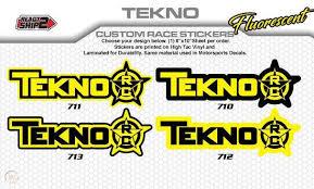 Custom Tekno Rc Sponsor Decals Tekno Stickers Hq Fluorescent Yellow 1992400744