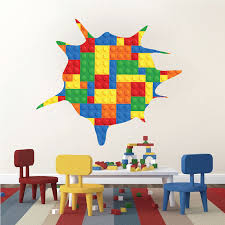 Toy Splatter Kids Wallpaper Decals Lego Wall Decals Play Room Wall Stickers Wall Art For Kids Wall Decal Murals Primedecals