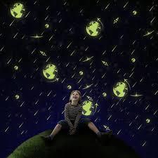 Cartoon Universe Meteor Shower Luminous Diy Pvc Wall Sticker Kids Room Home Decor Art Mural Decal Sale Banggood Com Arrival Notice