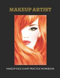makeup face chart practice workbook