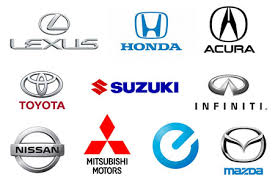 anese car brands names list and
