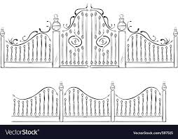 Gate Drawing Royalty Free Vector Image Vectorstock