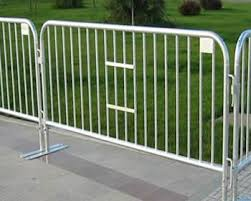Temporary Wire Fences Or Removable Fence Is Used For Events