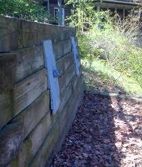 failing retaining walls foundation