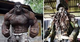 s metal sculptures of the hulk