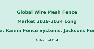 Heatbud Analytical Market Research Report Global Wire Mesh Fence Market 2019 2024 Long Fence Ramm Fence Systems Jacksons Fencing