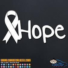 Cancer Ribbon Hope Vinyl Car Decal Sticker
