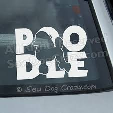 Silhouette Poodle Decal Sew Dog Crazy