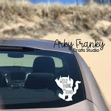 Wild Thing On Board Car Decal Etsy