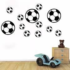 12pcs Football Soccer Wall Stickers Wall Decal Nursery Boys Bedroom Diy Decoration Wish
